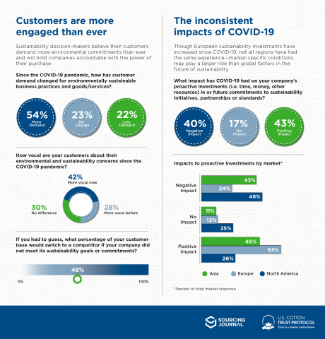 Simplified Infographic Covid-19-Survey Highlights (Graphic: Business Wire)