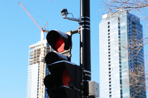 Blue City Technology uses Velodyne Ultra Puck sensors to collect reliable, detailed traffic data about road users, including vehicles, pedestrians and bicyclists, while preserving anonymity. (Photo: Blue City Technology)