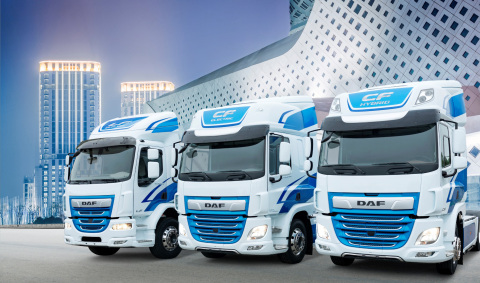 DAF LF Electric, CF Electric and CF Hybrid Trucks (Photo: Business Wire)