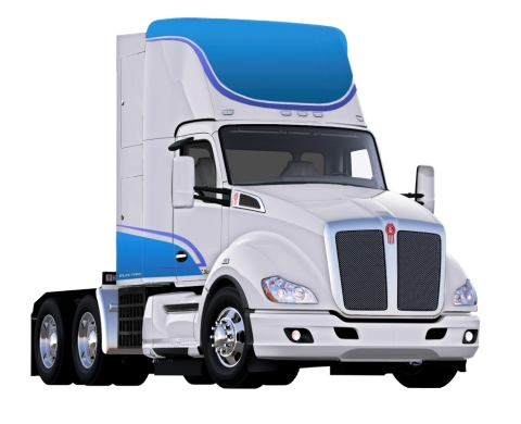 Hydrogen Fuel Cell Electric Kenworth T680 Truck (Photo: Business Wire)