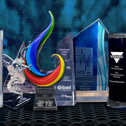 Mouser Electronics received over 20 top business awards from its manufacturer partners for impeccable distribution performance during 2019 and 2020, including best-in-class global logistics, double-digit sales growth, fastest NPIs, and commitment to teamwork. (Photo: Business Wire)