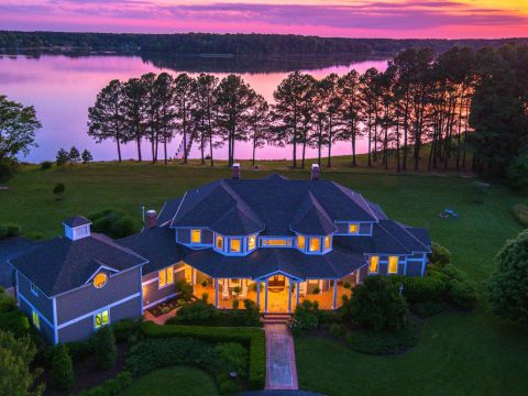 Evening aerial property shot using HomeVisit. (Photo: Business Wire)