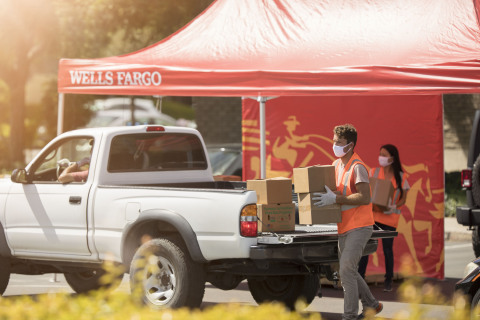Wells Fargo's Drive-Up Food Bank program will help families facing food insecurity during the COVID-19 pandemic. (Photo: Business Wire)