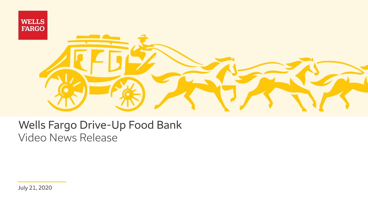 This summer, Wells Fargo will turn many of its locations around the country into mobile food distribution centers, working with Feeding America and its network of member food banks to help provide 50 million meals to individuals and families in need.