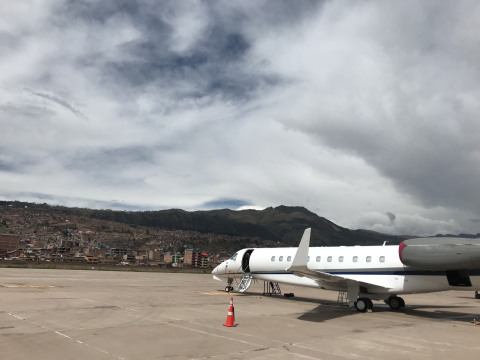 While Constant Aviation's AOG technicians are strategically positioned throughout the United States to provide rapid response to most metropolitan areas, they also regularly dispatch to remote locations to assist stranded aircraft like this Embraer Legacy 650E in Cusco, Peru. (Photo: Business Wire)