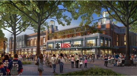Renderings of the new UBS Arena (Photo: Business Wire)
