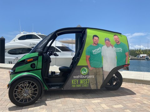 The Wahlburgers Key West Deliverator will go into service when the restaurant opens for business later this summer. (Photo: Business Wire)