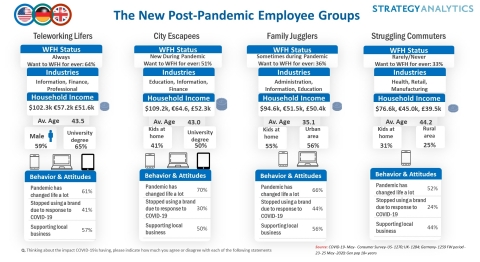 The New Post Pandemic Employee Groups (Graphic: Business Wire)