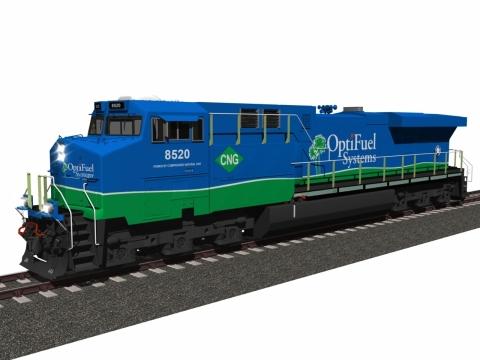 OptiFuel's Zero Emission Line Haul Locomotive Concept. (Photo: Business Wire)