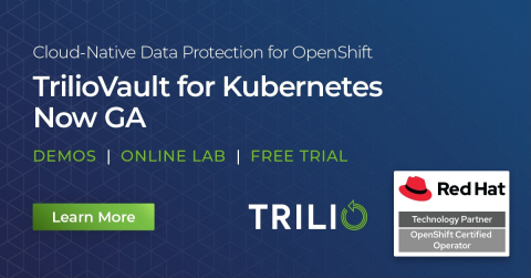 Trilio Achieves Strong Business Growth; Company Named to Gartner Hype Cycle for Storage and Data Protection Technologies; New Kubernetes Product Now GA (Graphic: Business Wire)