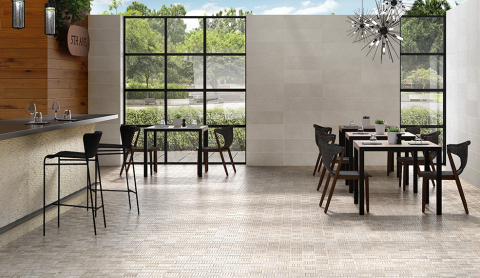"""Featured is Plateau, a 12"""" x 35"""" field tile with 3D elements reflecting the neutral tones found in the outdoors. (Photo: Business Wire)"""