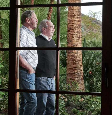 Sensei Ag's Visionary Co-founders, Larry Ellison and Dr. David Agus (pictured left to right) (Photo: Sensei Ag)