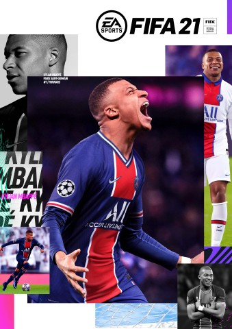 FIFA 21 also embraces a new generation of football with Paris Saint-Germain's Kylian Mbappé, gracing the cover across all editions and available worldwide on October 9, 2020. (Graphic: Business Wire)