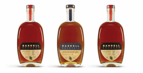 """Barrell Craft Spirits is thrilled to announce that its Dovetail American Whiskey was awarded the """"Chairman's Trophy"""" at the 2020 Ultimate Spirits Challenge. The expression was the top scoring product in the American whisk(e)y category, receiving 97 out of a possible 100 points. Additionally, Barrell Bourbon Batch 022 and Batch 023, received 96 and 93 points respectively, with the former also named a """"Finalist"""" and recognized in the Top 100 Spirits of the competition. (Photo: Business Wire)"""