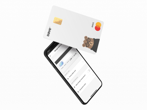 Dave Banking card and interface. (Photo: Business Wire)