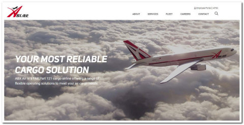 ABX Air's new website features a streamlined design, improved functionality, and new tools to get customers timely responses to their service requests. (Photo: Business Wire)