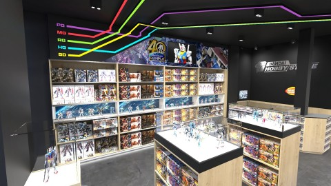 BANDAI HOBBY STORE interior image. It may differ in part from the actual site. (C)SOTSU・SUNRISE