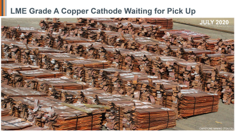 Figure 8: July 2020 – LME Grade A Copper Cathode from Pinto Valley Waiting for Pick-Up (Photo: Business Wire)