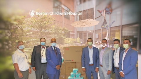 Boston Children's Hospital executives along with Rock Ledge Group. From left: Dave Walsh, Bill Pyne, Kevin Churchwell, MD, Noel Rix, Kyle Townson, Jesse Dixon, and George Valvanis (Photo: Business Wire)