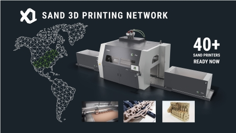ExOne's new Sand 3D Printing Network makes it easy for manufacturers to locate X1 printers for metalcasting molds and cores. To locate a sand 3D printer for your metal casting project, visit https://www.exone.com/sandprinterlocator (Photo: Business Wire)