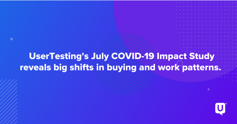 UserTesting COVID-19 Impact Study 2020 (Graphic: Business Wire)
