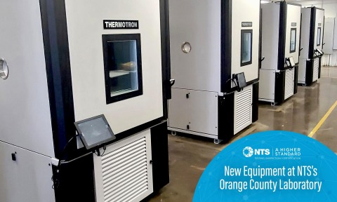 NTS Fullerton expands its environmental capabilities with the addition of four new Thermotron chambers. (Photo: Business Wire)