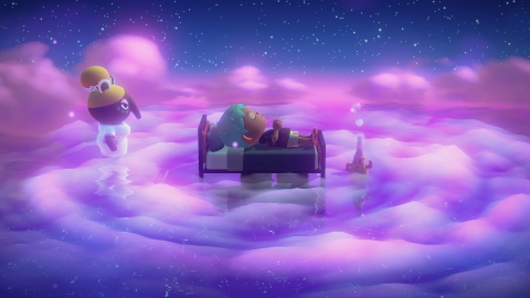 In Animal Crossing: New Horizons, an update adds the ability to sleep and enter dreams in the game and visit other people's islands. (Photo: Business Wire)