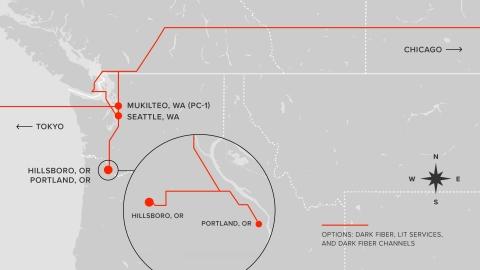 New MOX northwestern fiber route
