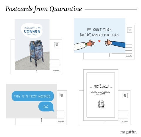 McGuffin Creative Group's Postcards from Quarantine Postal Pack (Graphic: Business Wire)