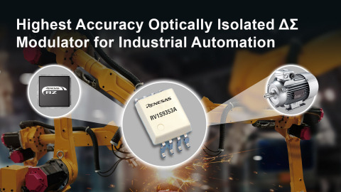 Highest accuracy optically isolated delta-sigma modulator for industrial automation (Graphic: Business Wire)