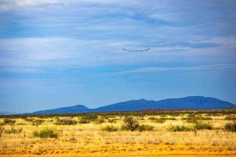 Sunglider in flight at Spaceport America (Photo: Business Wire)