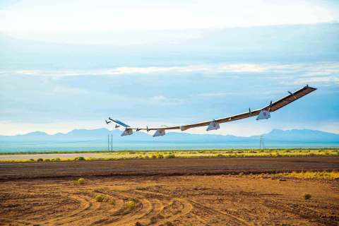 Sunglider in flight at Spaceport America (Photo: Business Wire)