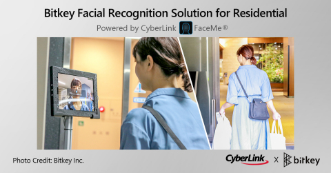 Japanese Digital Key Platform Company Bitkey Inc. Adopts CyberLink FaceMe® To Enable Contactless Face Authentication (Photo: Business Wire)
