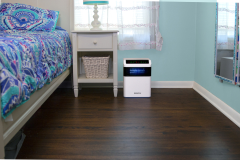 The Remington Airetrex 365 Air Sanitizer uses short-wave ultraviolet light, or UV-C, to destroy pathogens as air flows through the unit. (Photo: Business Wire)