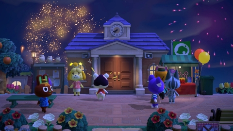 Enjoy atmospheric fireworks lighting up the sky above your island every Sunday in August at 7 p.m. in Animal Crossing: New Horizons' Summer Update - Wave 2. (Photo: Business Wire)