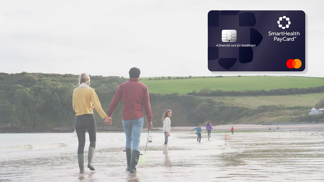 SmartHealth PayCard is uniquely designed for healthcare expenses. It provides the freedom to make smart choices about treatment, enabling people to focus on their health, not how to pay for it.