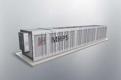 MHPS Americas will provide Hecate Grid battery energy storage systems (BESS) totaling 20 MW / 80 MWh as part of a multiyear study on clean distributed energy resources. Shown: Rendering of MHPS' BESS. (Photo: Business Wire)