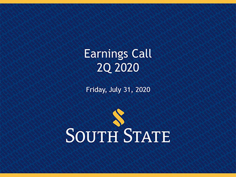 South State Corporation Earnings Call - 2Q 2020