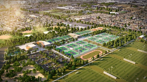 Rendering of the Carol Kimmelman Athletic and Academic Campus, which is slated to break ground in Los Angeles later this year. (Graphic: Business Wire)