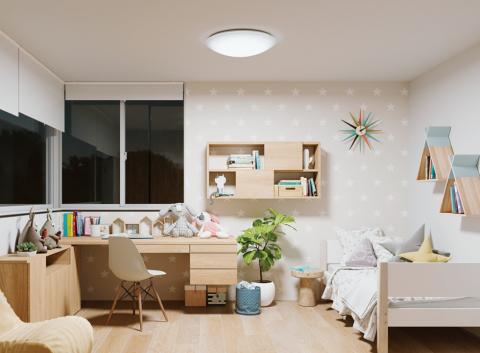 Abb. 1. Vollspektrum-LEDs der SunLike-Serie von Koizumi für Kinderzimmerbeleuchtung übernommen (Foto: Business Wire)
