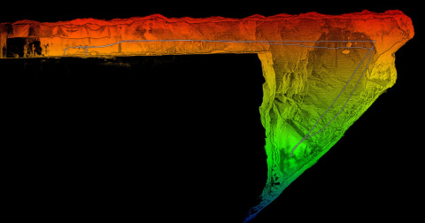 Emesent's Hovermap, equipped with Velodyne's Puck LITE sensor, can fly a mission and within minutes capture high resolution lidar point clouds and imagery. (Graphic: Emesent)