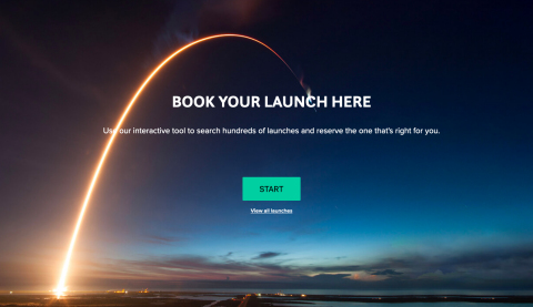Spaceflight's new online reservation system for booking smallsat launches. (Graphic: Business Wire)