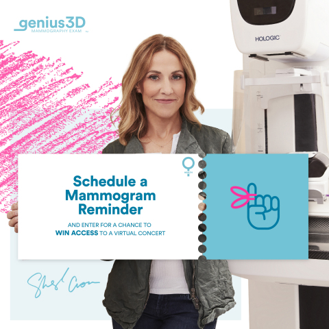 Schedule a mammogram reminder and enter for a chance to win access to a virtual concert (Photo: Business Wire)