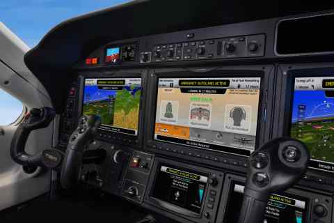 Garmin G3000 integrated flight deck Autoland activation, TBM 940. (Photo: Business Wire)
