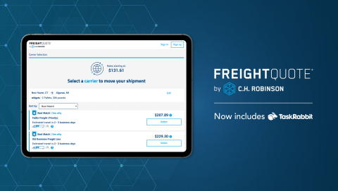 Freightquote by C.H. Robinson announces tech-driven enhancements to bring digital transformation to small business shippers. (Graphic: Business Wire)