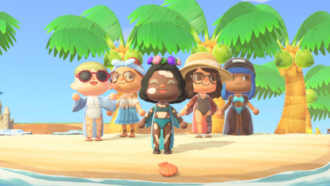 The first of its kind 'Skinclusive Summer Line by Venus' on Animal Crossing. This collection is taking Animal Crossing from just a few representations of skin to 19 different skin types in 8 in-game skin tones, resulting in over 250 designs that include common skin realities like freckles, acne, hair, cellulite, scars and stretch marks, and more unique and under-represented skin like vitiligo, tattoos, psoriasis, and differently-abled bodies. (Photo: Business Wire)