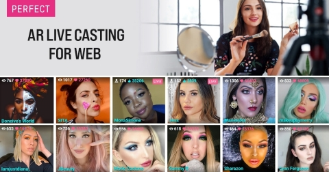 Perfect Corp. launches the first-of-its-kind interactive AR livestream solution for beauty brands, YouCam AR Live Casting for Web. (Photo: Business Wire)