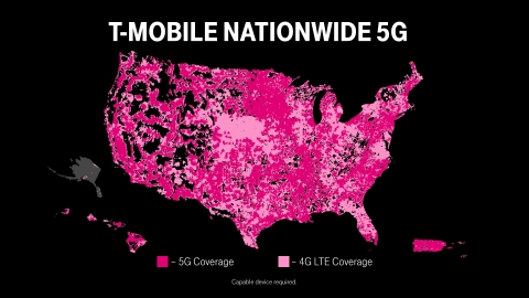 T-Mobile Launches World's First Nationwide Standalone 5G Network  (Graphic: Business Wire)