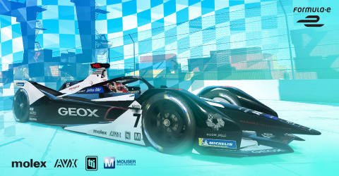 Mouser cheers on drivers Sérgio Sette Câmara and Nico Müller as they take to three different tracks in the arduous Formula E season finale. (Photo: Business Wire)
