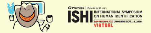 Forensic DNA experts will gather virtually in 2020 for the 31st International Symposium on Human Identification (ISHI). The largest annual global meeting focusing entirely on DNA forensics will begin September 14. (Graphic: Business Wire)